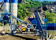 Promax MOBILE CONCRETE BATCHING PLANT M100-SNG Single Shaft